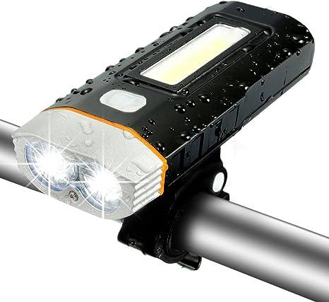 LED Luz de Bicicleta USB cargador Set, sgodde LED bicicleta luz ...