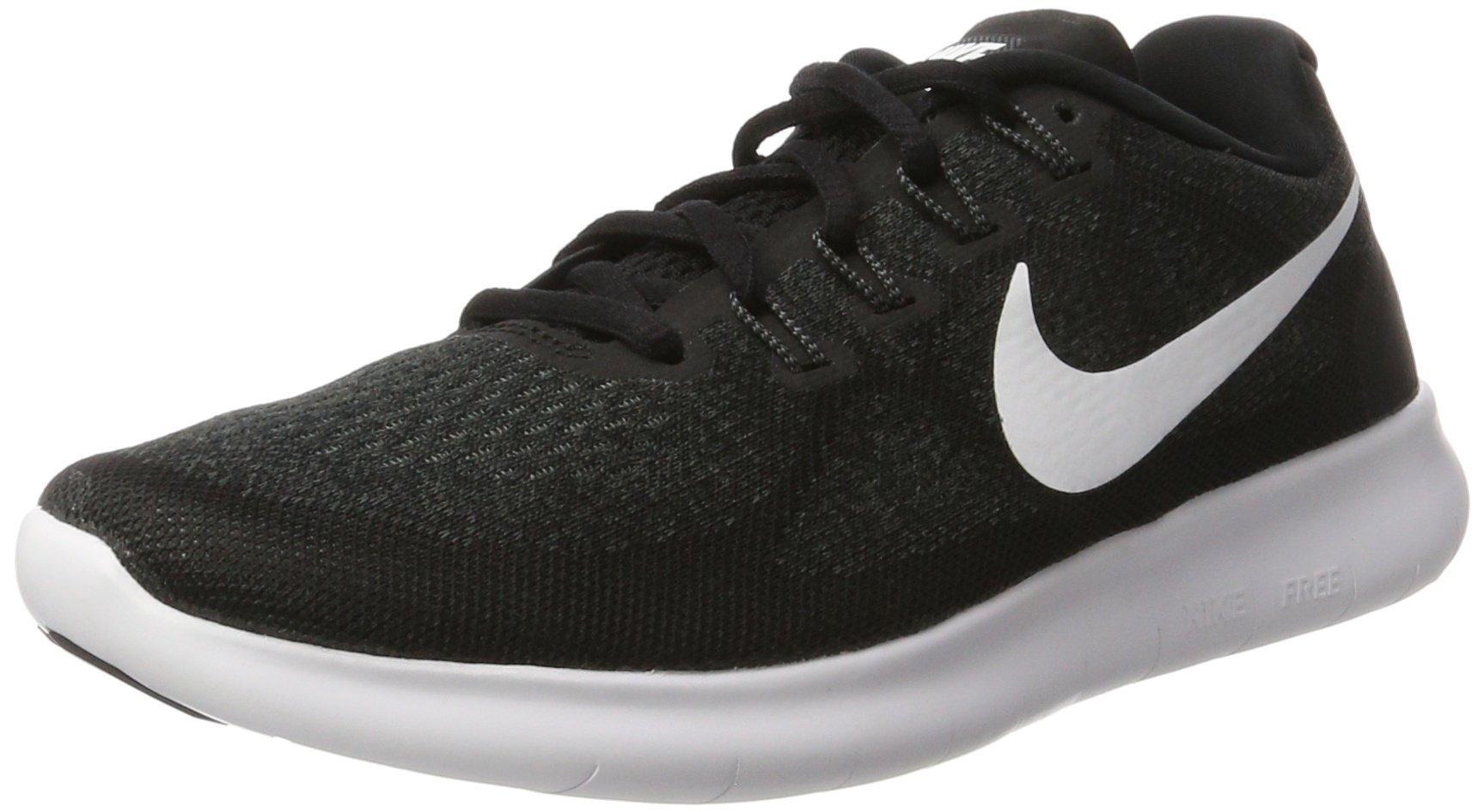 Nike Men's Free RN 2017 Running Shoe Black/White/Dark Grey/Anthracite Size 13 M US by Nike