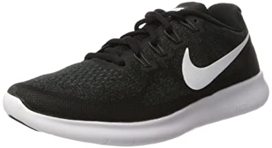 Nike Men\u0027s Free RN 2017 Running Shoe Black/White/Dark Grey/Anthracite Size 7