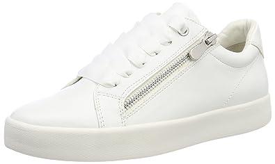 23775, Sneakers Basses Femme, Blanc (White), 40 EUMarco Tozzi