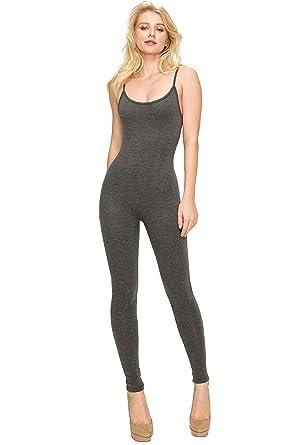 18f0ddf59c11 EttelLut Bodycon Jumpsuits Rompers Bodysuits-Long Yoga Span Playsuits  Jumpsuits for Women Charcoal S