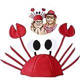 LUOEM Sombreros divertidos de Halloween para el partido Sombrero lindo de cangrejo para la decoración de la fiesta de Navidad de Halloween