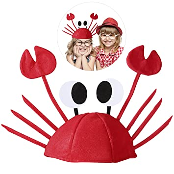 LUOEM Sombreros divertidos de Halloween para el partido Sombrero lindo de  cangrejo para la decoración de 40063935e9b