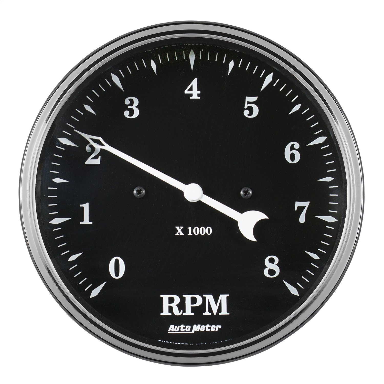 Auto Meter AutoMeter 1799 Gauge 5 8K RPM Old TYME Black in-Dash Tachometer