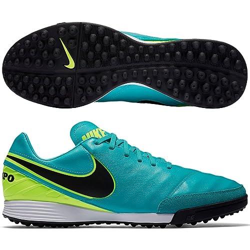 Nike Tiempox Mystic V TF, Zapatillas de Fútbol Hombre, Verde (Clear Jade/Black-Volt), 42.5