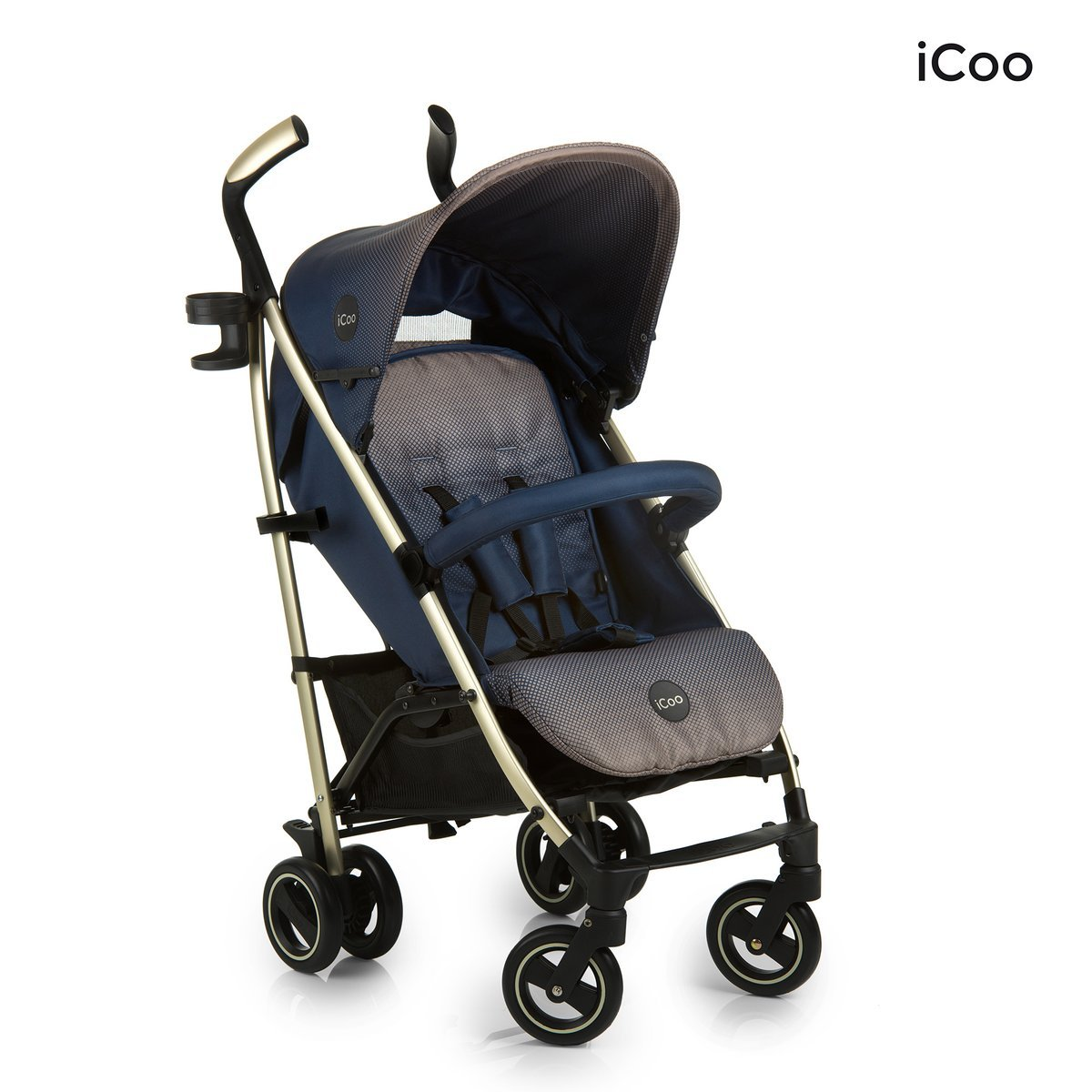 iCoo Pace - Silla de paseo, color azul con estampado gris