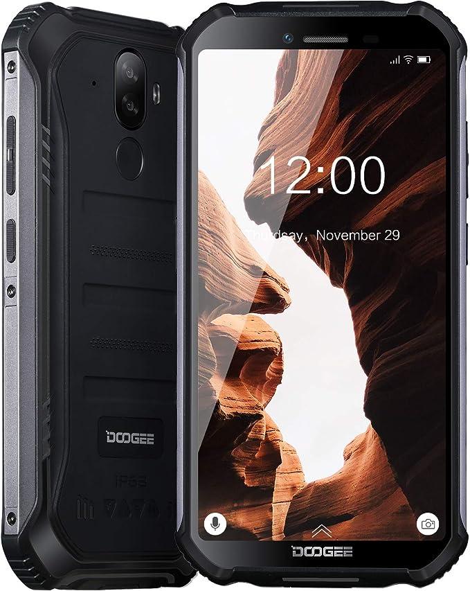 DOOGEE S40 LITE Moviles Libres Resistente IP68/IP69K Impermeable Smartphone 4650mAh, Android 9.0 Telefono Movil Todoterreno 5.5 Pulgada Cámara 8MP+5MP Dual SIM 2GB+16GB, Face ID + Huella Digital,Negro: Amazon.es: Electrónica