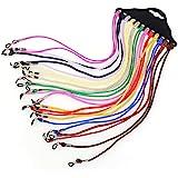 Cordón para Gafas,12 Piezas Gafas de Sol Soporte Correa Multi-color Ajustable Cadena para el Cuello Gafas Retenedor para…