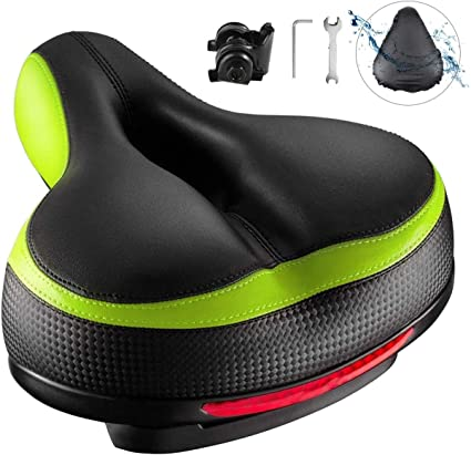 Bicycle Seat Mountain Bike Wide Cushion Saddle No Looseness Microfiber Tool Part