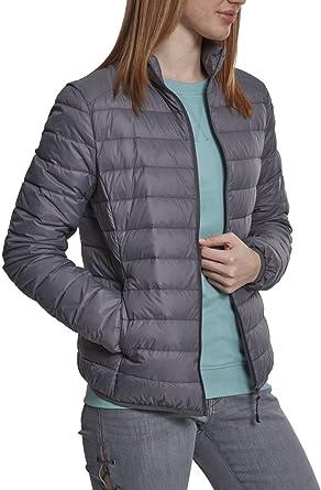 Urban classics Ladies Basic Jacket, Blouson Femme, (Darkgrey 00094), X-Small (Taille Fabricant: X-Small)