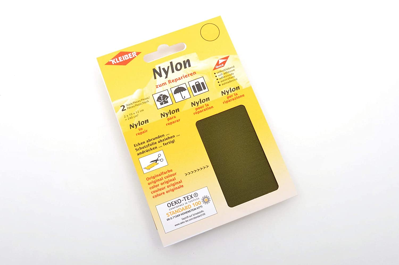 Kleiber Self-Adhesive Waterproof Nylon Repair 2 Patches -Dark Blue//Navy 12 x 10 Centimeters 10cmx12cm Each