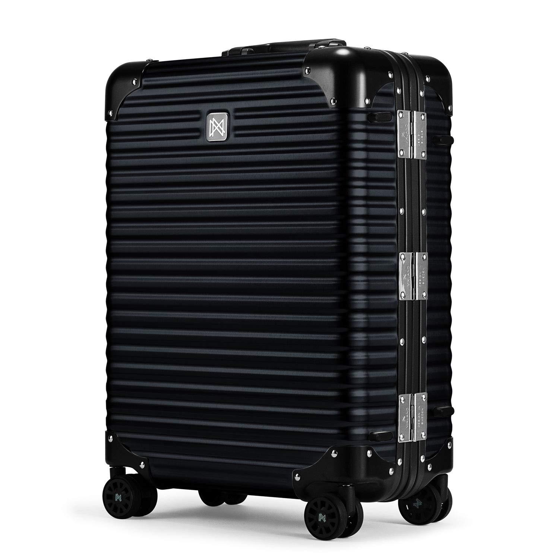 [LANZZO ランツォ] NORMAN ノーマン 4輪 21インチ ダイアルロック式 アルミ スーツケース Al-Mg21 62104 BLACK(ブラック) B07VKL3MDZ ブラック(C05) F