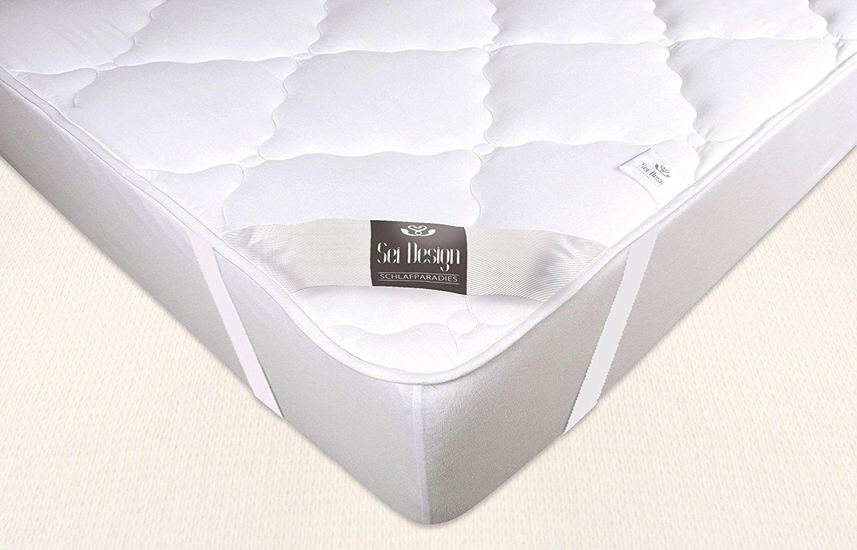 Sei Design protector de colchón Premium Extra Soft 160x200 cm. El acolchado doble hace que la parte inferior sea más suave y transpirable, la protección ...