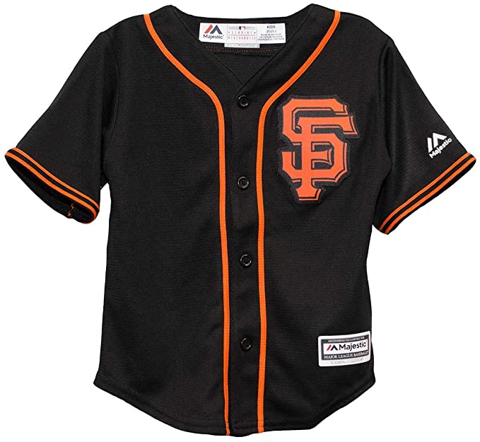 Amazon.com  Majestic MLB San Francisco Giants Black Orange Baseball ... a292126a7