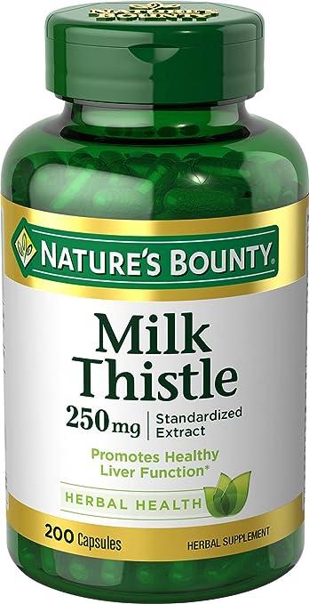 Nature's Bounty Milk Thistle 250 mg Capsules 200 ea