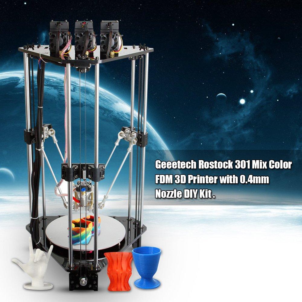 Geeetech Rostock 301 - Juego de Impresora 3D de Colores Variados ...