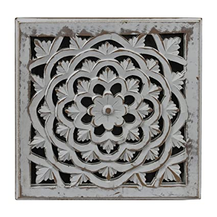 Amazon indian heritage wooden wall panel mdf mirror with