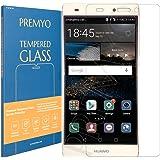 PREMYO verre trempé P8 Lite. Film protection Huawei P8 Lite avec un degré de dureté de 9H et des angles arrondis 2,5D. Protection écran Huawei P8 Lite