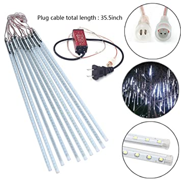 Amazon.com : STARSHINE 50cm 10 Tube 540 LEDs Meteor Shower Rain ...