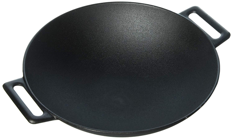 Jim Beam 12インチ プレシーズニング ヘビーデューティー構造 鋳鉄グリル中華鍋 5 UNITS  B07M923B9G