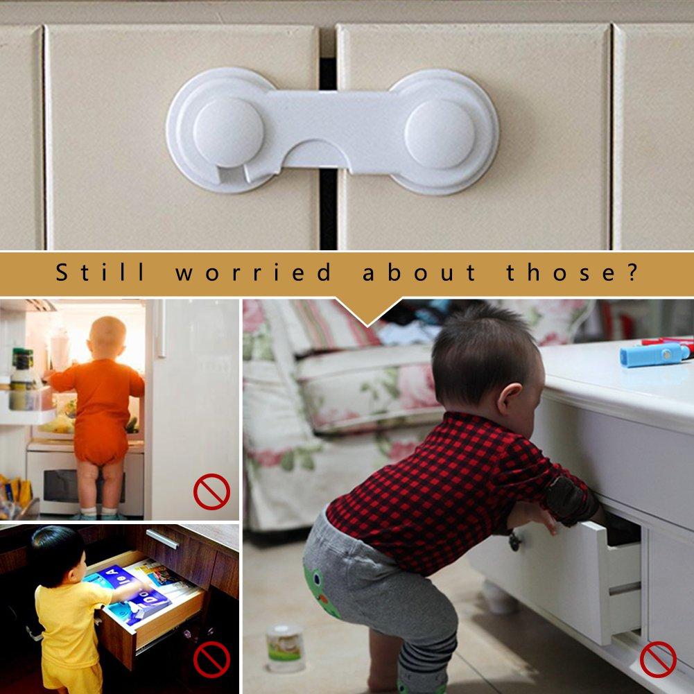 20mm 10x Baby Sicherheitsschlösser Für Tür Schubladenschrank Schrankschloss
