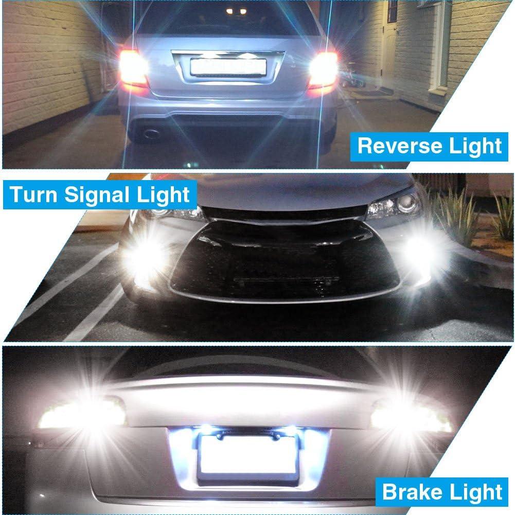 Super Bright 18-SMD 6000K Xenon White Camper YITAMOTOR 20x 1156 7506 led Bulb White 1156 BA15S 1141 1003 LED Light Bulbs Used for RV Camper Lights Tail Backup Reverse Lights 12v-24v