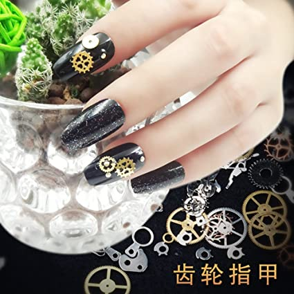Amazon.com : Super Holographice Coffin Nails Mirror Blue Chrome Sparkly Ballerina Fake Nails Medium Size Manicure Tips With Glue Sticker black time wheel : ...