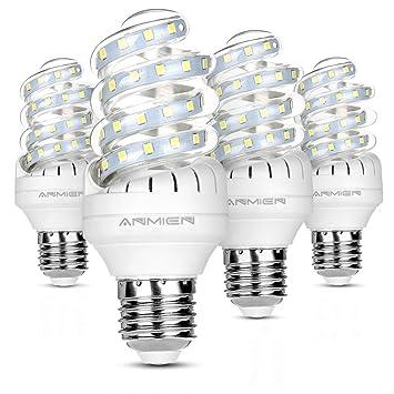 Bombillas LED, No regulable 9W (equivalente a 90watt), 6000 K (luz blanca) bombillas de luz de inundación, tamaño ...
