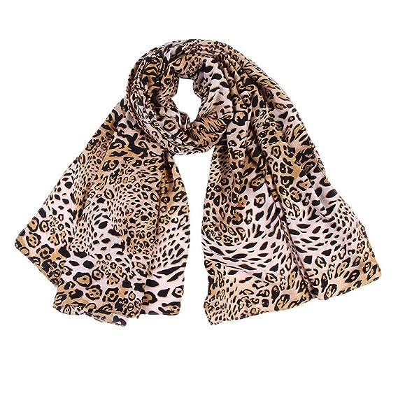 Lenfesh Fular Mujeres Bufanda seda Suave Otoño Bufandas leopardo Mujer  Pañuelo Mantas Vintage  Amazon.es  Ropa y accesorios 851e0fc8a19