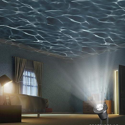 Pet Luz De Efecto De Luz LED Luz De Césped De Escenario De Luz De Césped De Luz LED De Efecto De Ondulación De Agua Al Aire Libre LED, Jardín Jardín Decoración: