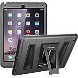 Apple iPad Air 2 Schutzhülle, i-Blason ArmorBox ABH Hülle mit integrierter Displayschutzfolie und Standhalter (Schwarz) Case / Cover / Gehäuse