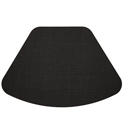 Pattern For Placemats For Round Table.Set Of 2 Black Wipe Clean Wedge Shaped Placemats For Round Tables