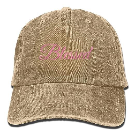 Blessed Low Profile Denim Snapback Hat Sun Visor Operator Cap at ... 0caf674fe8b