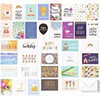 Birthday Card - 36-Pack Birthday Cards Box Set, Happy Birthday Cards - Unique Assorted Designs Blank on the Inside…