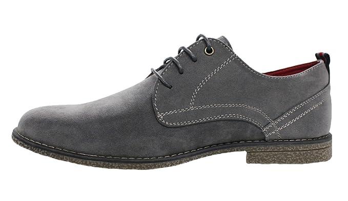 Scarpe francesine uomo casual grigio scamosciate man's shoes