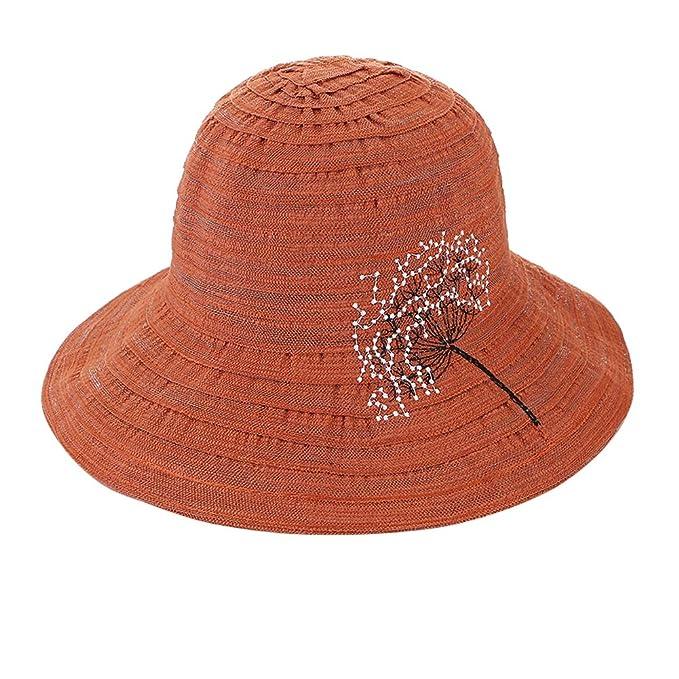 iSpchen - Sombrero Estilo cubeta para Mujer con ala Ancha y ...