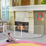 198 inch Baby Gate, KINGSO Extra Wide Baby Gate Play Yard 8 Panel Foldable Detachable Safety Gate for Pet Child Auto Close Ba
