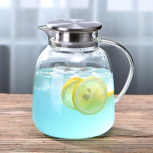 Amazon.com: WarmCrystal, té frío de cristal grande, jarra y ...