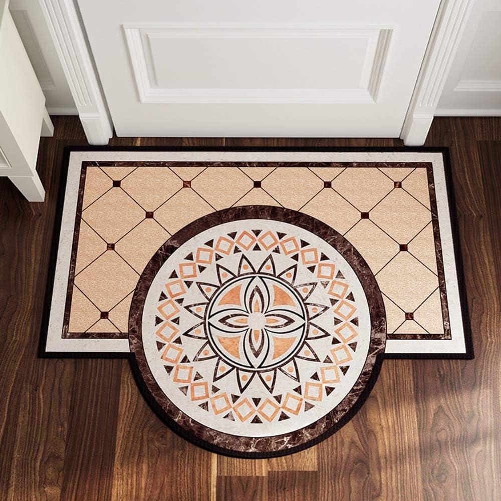 Felpudo estilo europeo retro, estilo persa tradicional, estilo rural clásico de Mónaco para entrada de interior, alfombra de bienvenida para el cuarto de baño de 70 x 90 cm