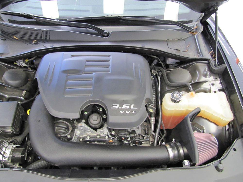K&N Performance Air Intake Kit 57-1564 with Lifetime Red Oiled Filter for 2011-2014 Chrysler 300/300C, Dodge Challenger/Charger 3.6L V6 by K&N (Image #2)