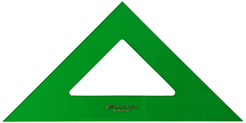 Faber Castell 566-28 - Escuadra técnico para uso escolar y profesional sin graduar, 28 cm, color verde
