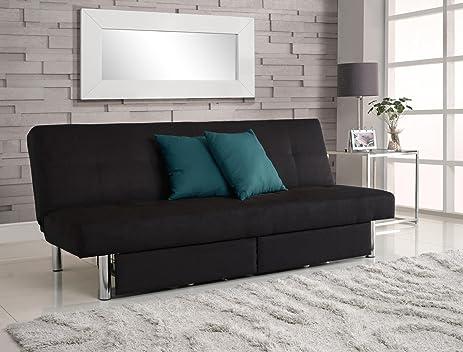 Amazoncom DHP Sola Convertible Sofa Futon with Space Saving