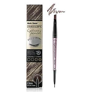 Music Flower Eyebrow pencil - Eyebrow pen, Eye brow pen, Eyebrow Tint (Black)
