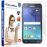 CELLBELL Tempered Glass for Samsung Galaxy J7 with Installation Kit (Transparent)
