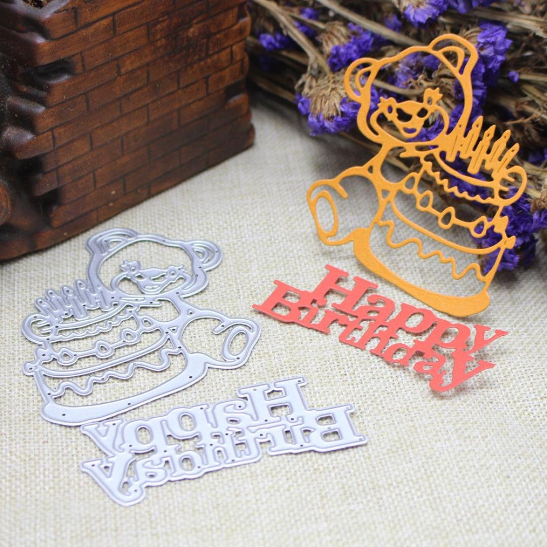 callm Letters Cutting Dies Birthday Cut Metal Scrapbooking Stencils Template for DIY Crafts Scrapbooking Embossing Christmas Paper Album Decor A Cutting Dies for Card Making