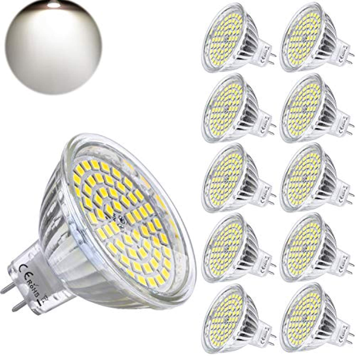 MR16 GU5.3 LED 12V bombillas 5W luz diurna Reemplace 5W ...