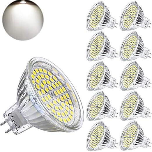Bombilla LED MR16 GU5.3, 12 V, 5 W, luz de día blanca, sustituye ...
