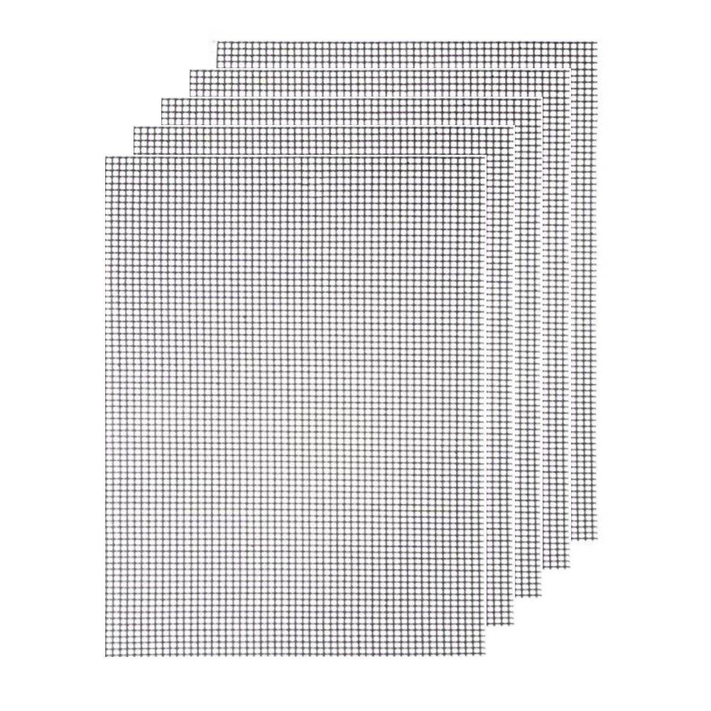BBQ Grillmatte Grill Mesh Reusable Set- STAGO 5 Stück Grill Mat zum Grillen und Backen Antihaft Mat und Backmatte wiederverwendbar, Grillen Mesh Hitzebeständig bis zu 500F (260 ℃) und Easy to Clean, ideal für gasgrill Backofen als Backpapier Ersatz verwend