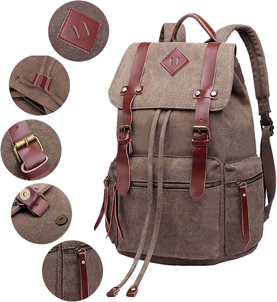 Thai eiephant bag women vintage backpack canvas rucksack satchel travel school