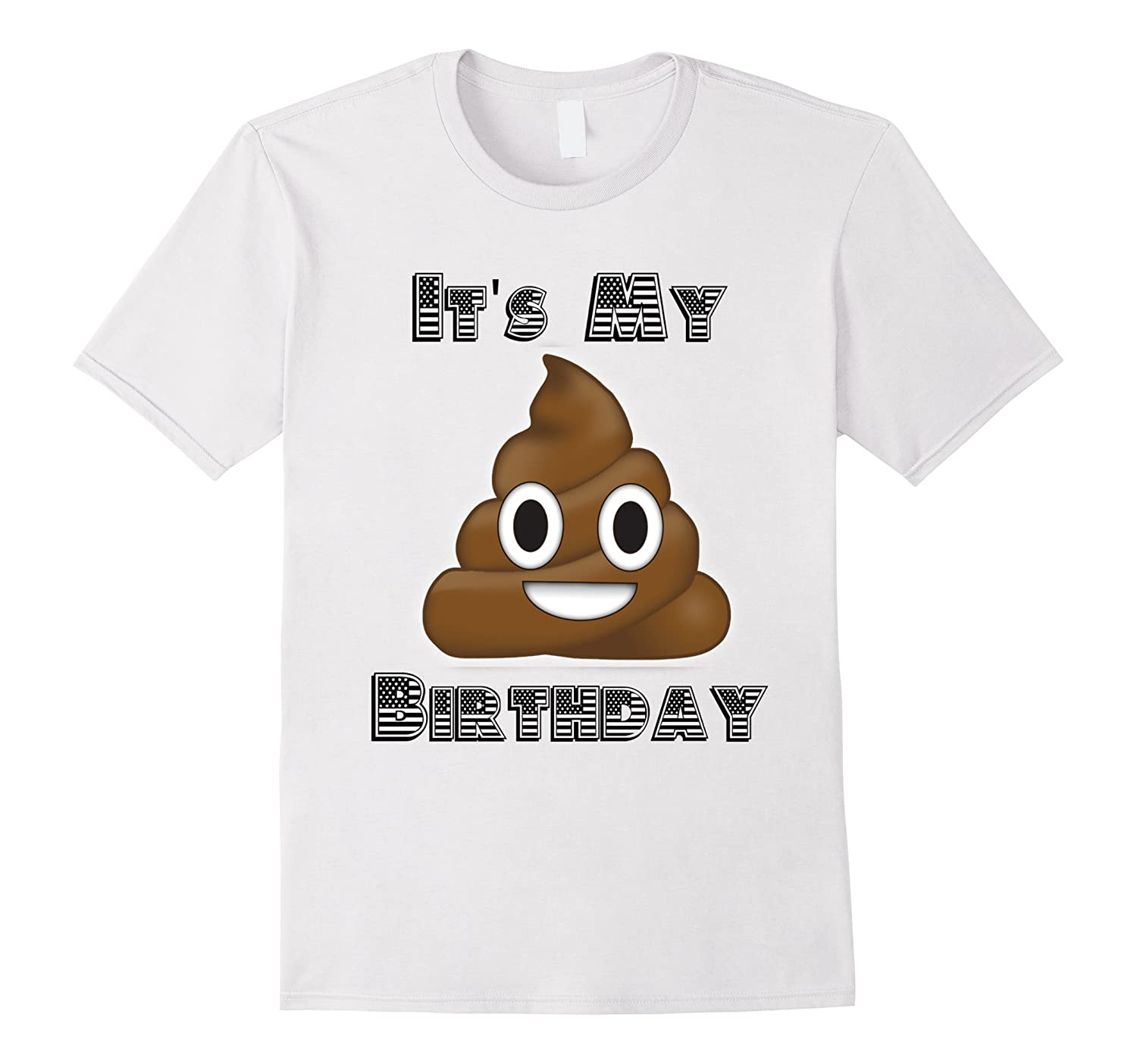 Poop Emoji Birthday T Shirts For Boys Girls Kids Gift